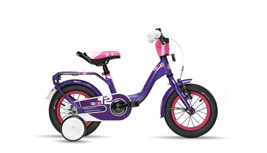 s'cool niXe 12 kinderfiets Kinderen violet